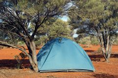 Wilderness camping. In the Australian bush Stock Photography