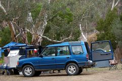 Wilderness camping in Australia Royalty Free Stock Photo