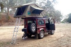 Wilderness camping in Australia Royalty Free Stock Image
