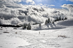 Wilderness in the clouds Royalty Free Stock Images