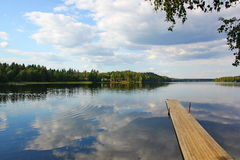 wilderness dock and boat ramp Royalty Free Stock Images