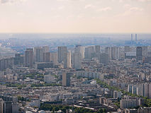 Wilderness of houses in paris Stock Image