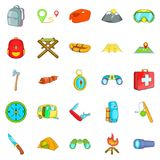 Wilderness icons set, cartoon style Stock Photography