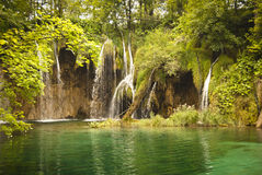 Wilderness landscape with beautiful waterfalls Stock Photography