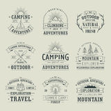 Wilderness and nature exploration emblems Stock Photo