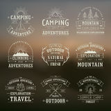 Wilderness and nature exploration emblems Royalty Free Stock Photography