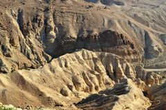 Wilderness and Negev desert around Dead Sea, Israel stock image