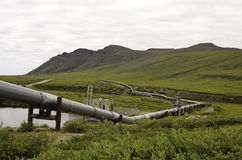 Wilderness pipeline view Royalty Free Stock Photo