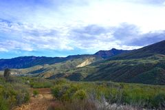Through the Wilderness. The Sespe wilderness in California is the 4th largest unpaved area in the lower 48 states, its located just north of los angeles Royalty Free Stock Photography
