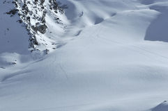 Wilderness ski tracks Stock Photography