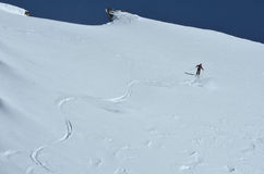 Wilderness Skiing Royalty Free Stock Images