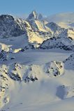 Wilderness skiing and the Matterhorn Royalty Free Stock Images