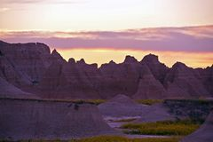 Wilderness Sunset Stock Photography