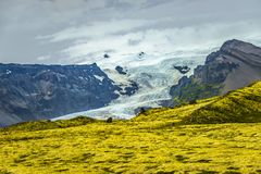 Wilderness in Vatnajökull National Park at South part of Iceland, summer time royalty free stock photography