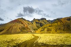 Wilderness in Vatnajökull National Park at South part of Iceland, summer time royalty free stock photo