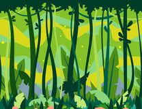 Wildernis Forest Game Background royalty-vrije illustratie