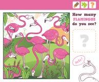 wildernis Onderwijs Tellend Spel voor Kinderen Royalty-vrije Stock Foto's