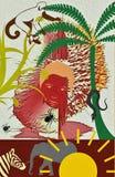 Wildes Afrika, grafic, Ilustration stockfotos