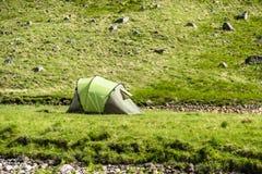 Wildes Kampieren in den wildernis von Glen Etive, Schottland stockbilder