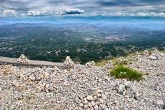 Wildes Montenegro - Aufpassen der Berge von Lovcen Lizenzfreies Stockfoto