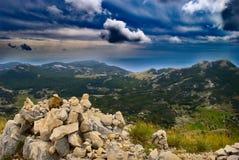 Wildes Montenegro - Aufpassen der Berge von Lovcen Lizenzfreie Stockfotografie