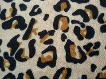 Wildes Muster des Leopardgewebes Stockbild