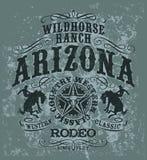 Wildes Pferderodeo Arizonas vektor abbildung
