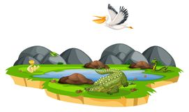 Wildes Tier in der Natur vektor abbildung