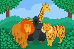 Wildes Tier im Dschungel Lizenzfreie Stockfotos