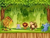 Wildes Tier im Dschungel lizenzfreie abbildung