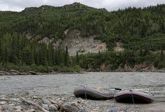 Wildes Wasser, das in Denali - Alaska flößt Lizenzfreie Stockbilder