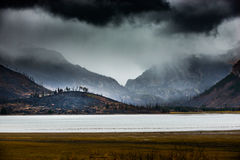 Wildfire aftermath Jackson Lake Grand Teton Stock Photography