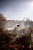wildfire Feuer Globale Erwärmung, Klimakatastrophe Conce lizenzfreie stockfotos