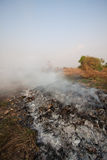 Wildfire or forest fire in the nature, Fire fighters will be fighting fire.  Royalty Free Stock Photos