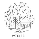 Wildfire Natuurramp royalty-vrije illustratie