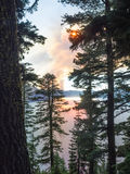 Wildfire near Crater Lake in Oregon Stock Image