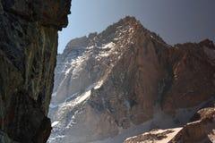 Wildfire nevel in John Muir Wilderness, Siërra Nevada Range, Californië 3 Royalty-vrije Stock Foto's