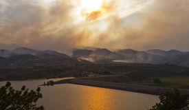 Wildfire Threatens Homes. During the High Park Fire in northern Colorado June 2012 Royalty Free Stock Photo