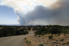 Wildfire threatens Los Alamos, New Mexico Stock Image