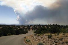 Wildfire threatens Los Alamos, New Mexico Stock Image