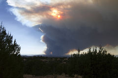Wildfire threatens Los Alamos, New Mexico Royalty Free Stock Photography