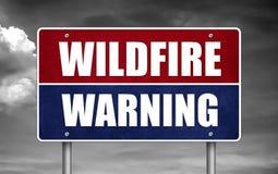 Wildfire Waarschuwingsbord vector illustratie