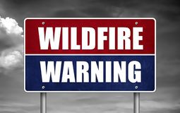Wildfire Warning sign stock image