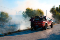 Wildfires in Tuscany, Italy Stock Images