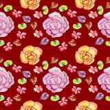 Wildflower begonia flower in a watercolor style isolated. Royalty Free Stock Photo