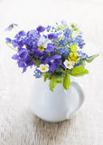 Wildflower bouquet stock images