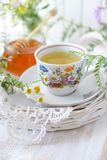 Wildflower and chamomile tea Stock Images