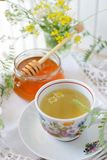 Wildflower and chamomile tea Royalty Free Stock Photos