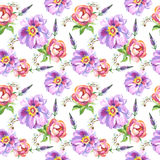 Wildflower kwiatu różany wzór w akwarela stylu odizolowywającym ilustracja wektor