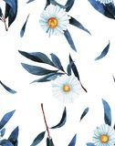 Wildflower pattern in a watercolor style isolated. Aquarelle wild flower for background, texture, wrapper pattern, frame or border vector illustration